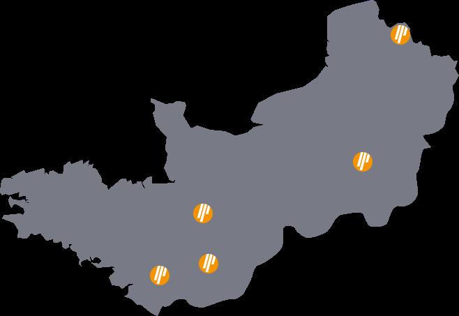 carte de nos installations